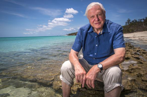 David Attenborough at Great Barrier Reef