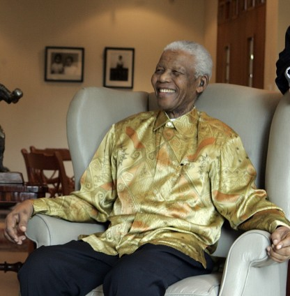 Australia's Governor-General Her Excellency Ms Quentin Bryce AC meets with Nelson Mandela