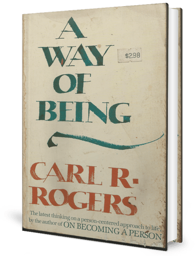A Way of Being (1980) by Carl Rogers book cover
