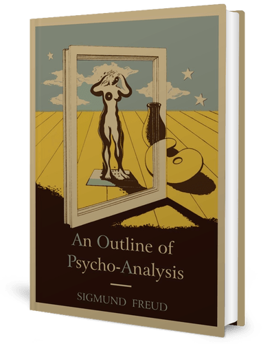 Book cover, An Outline of Psychoanalysis by Sigmund Freud (1938) book cover