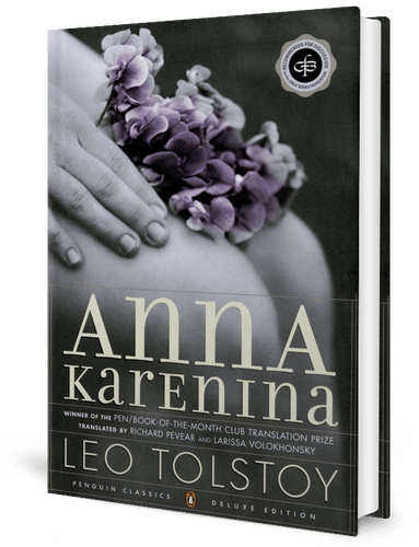 book cover - Anna Karenina by Leo Tolstoy (1877)