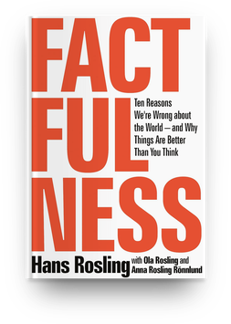 Factfulness by Hans Rosling (2018) book cover