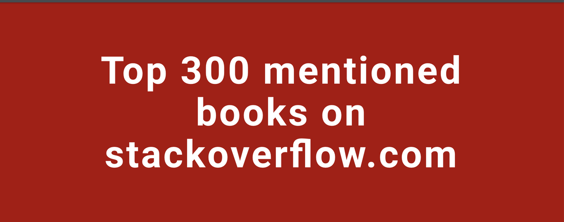 Top 300 mentioned ​books on stackoverflow.com