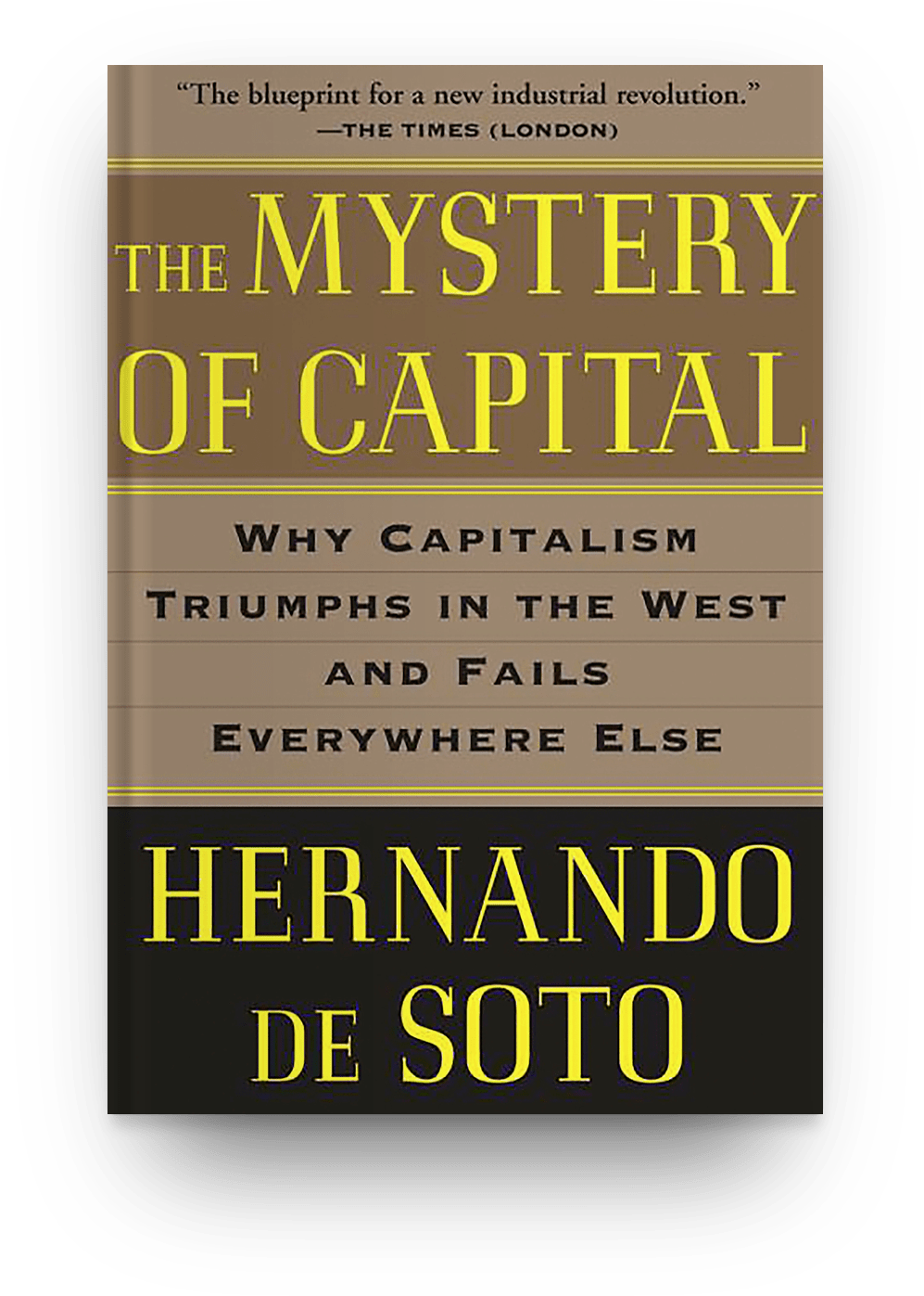 The Mystery of Capital: Why Capitalism Triumphs in the West and Fails Everywhere Else  by ​Hernando De Soto book cover