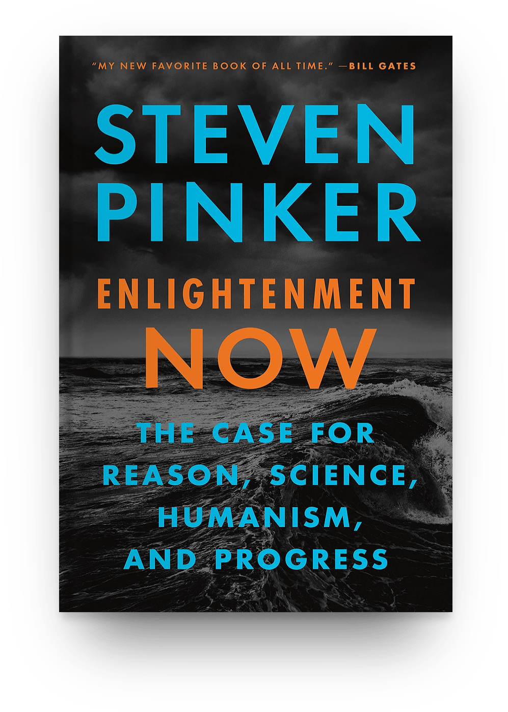 Enlightenment Now: The Case for Reason, Science, Humanism, and Progress by Steven Pinker (2018) book cover
