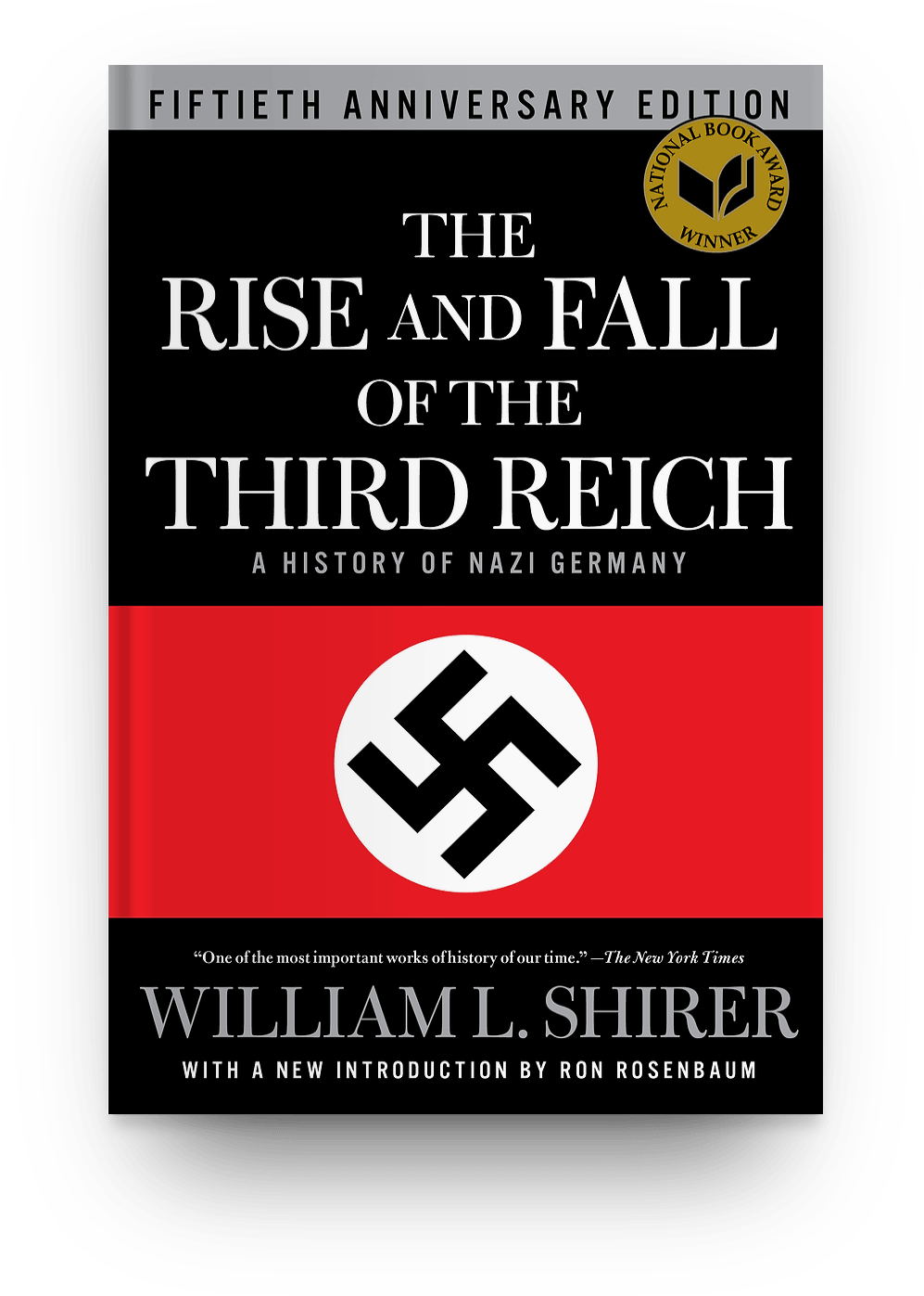 The Rise and Fall of the Third Reich by ​William L. Shirer (1960) book cover. World War 2 books