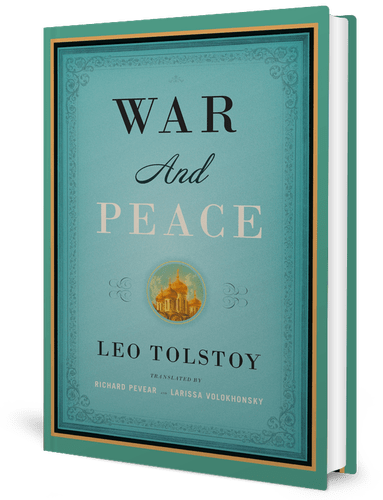 book cover - War and Peace by Leo Tolstoy (1867)